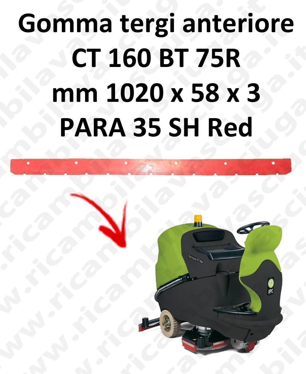 CT 160 BT 75R goma de secado delantera para escobilla de goma IPC