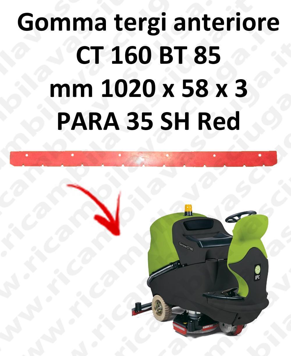 CT 160 BT 85 goma de secado delantera para escobilla de goma IPC