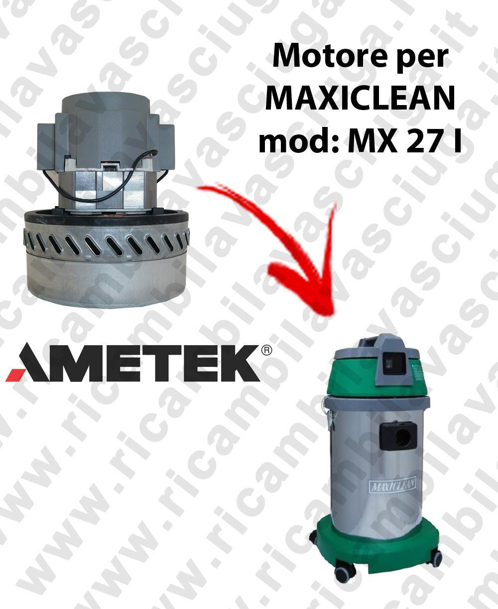 MX 27 I Motore de aspiración AMETEK para aspiradora y aspiradora húmeda MAXICLEAN