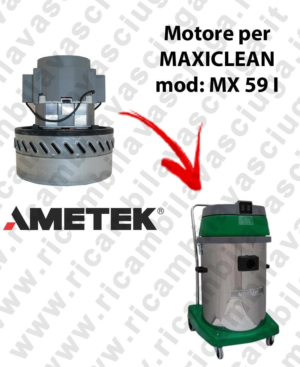 MX 59 I Motore de aspiración AMETEK para aspiradora y aspiradora húmeda MAXICLEAN