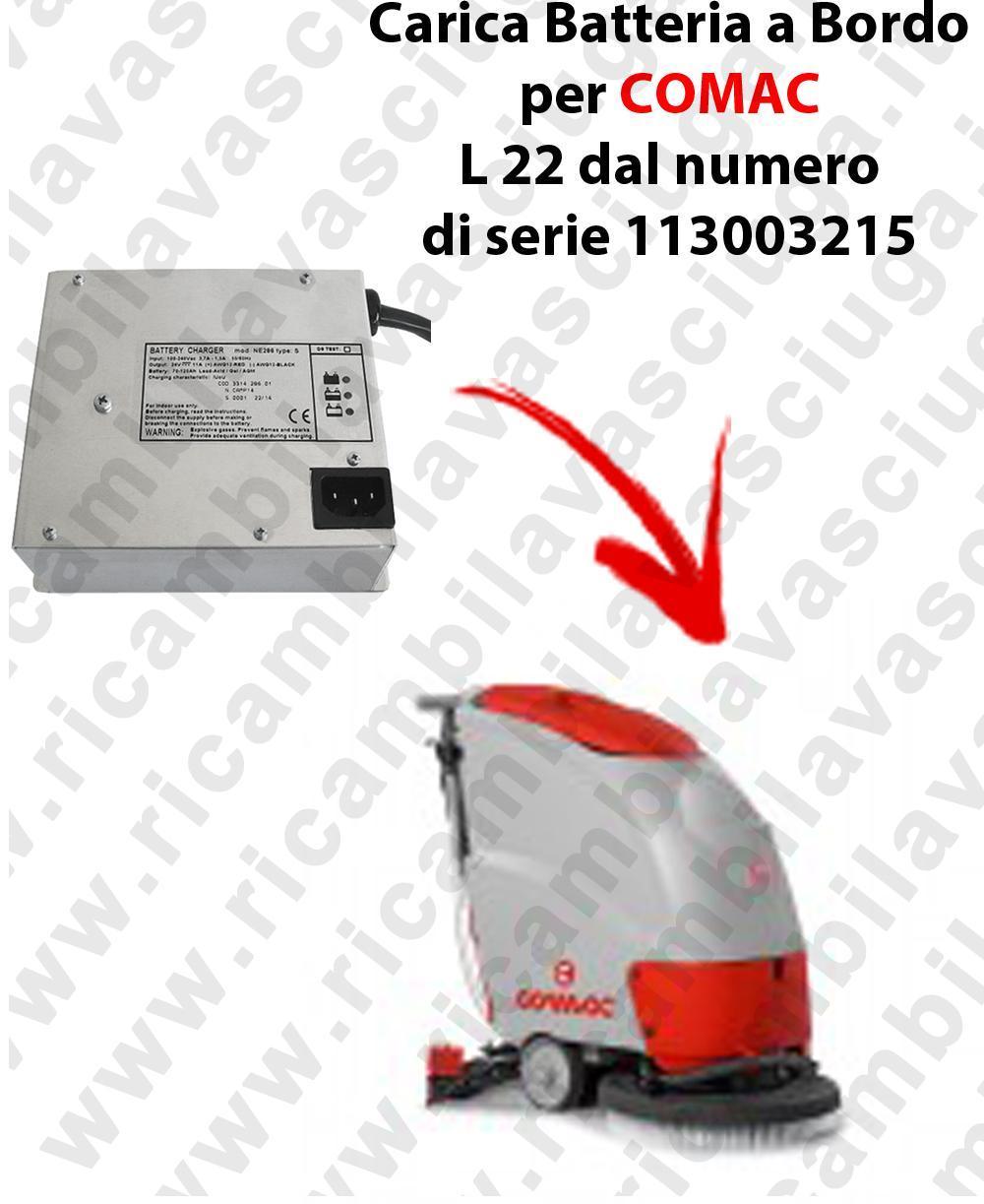 Carica Batteria a Bordo para fregadora COMAC L 22 dal numero di serie 113003215