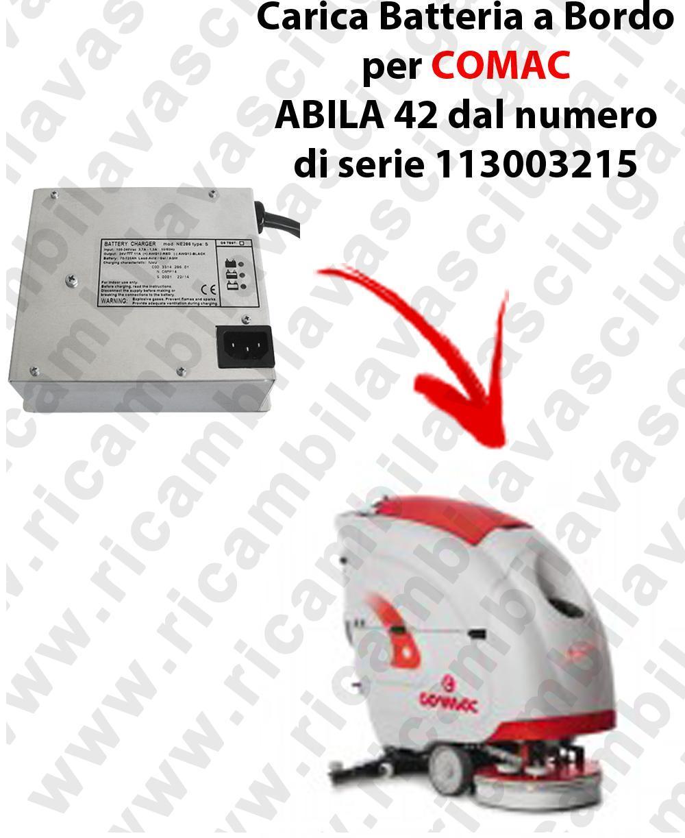 Carica Batteria a Bordo para fregadora COMAC ABILA 42 dal numero di serie 113003215