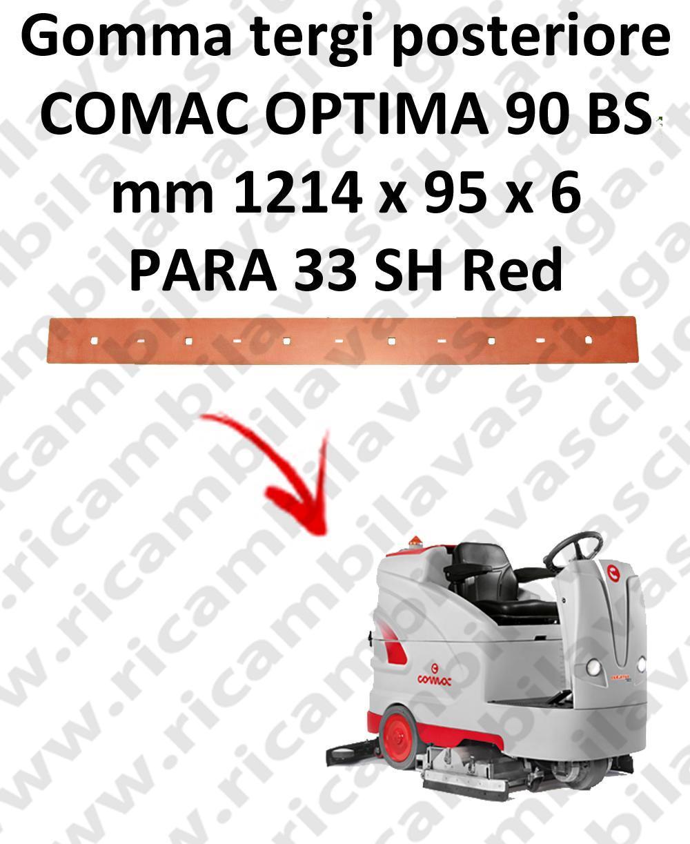 OPTIMA 90BS goma de secado trasero para escobilla de goma COMAC
