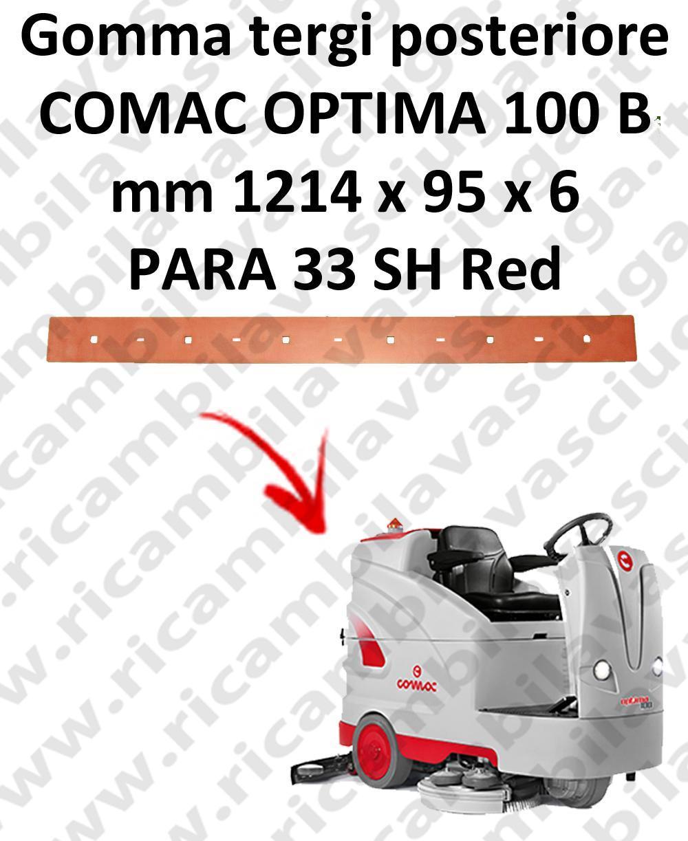 OPTIMA 100B goma de secado trasero para escobilla de goma COMAC
