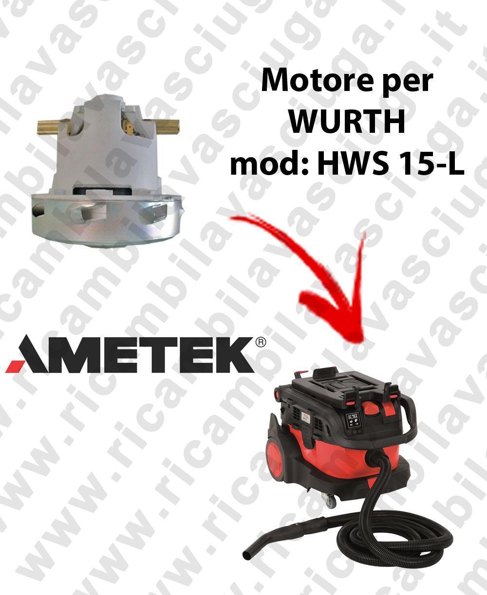 HWS 15-L automatic Motore de aspiración AMETEK para aspiradora WURTH