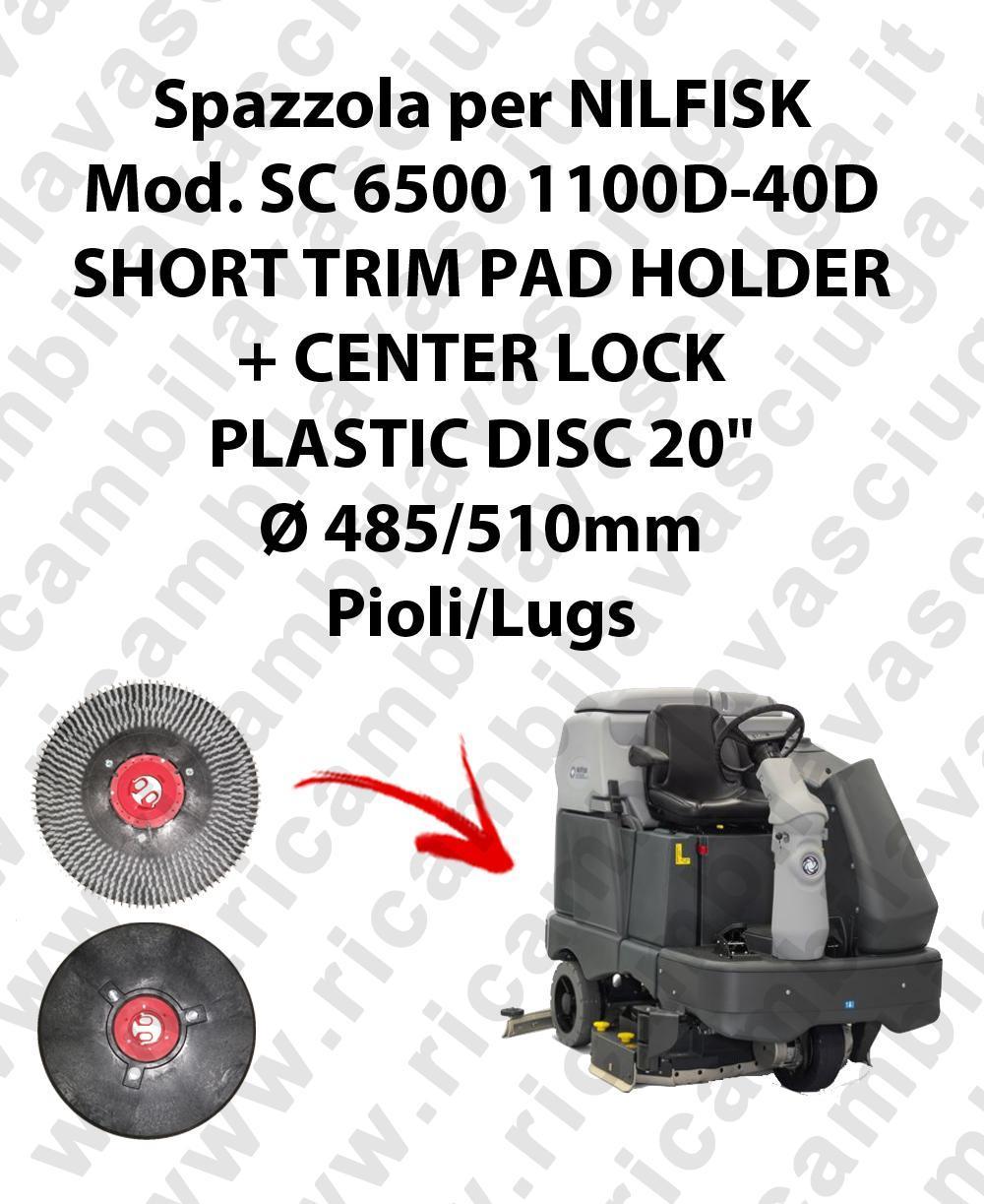 SHORT TRIM PAD HOLDER + CENTERLOCK para fregadora NILFISK mod. SC 6500-40D