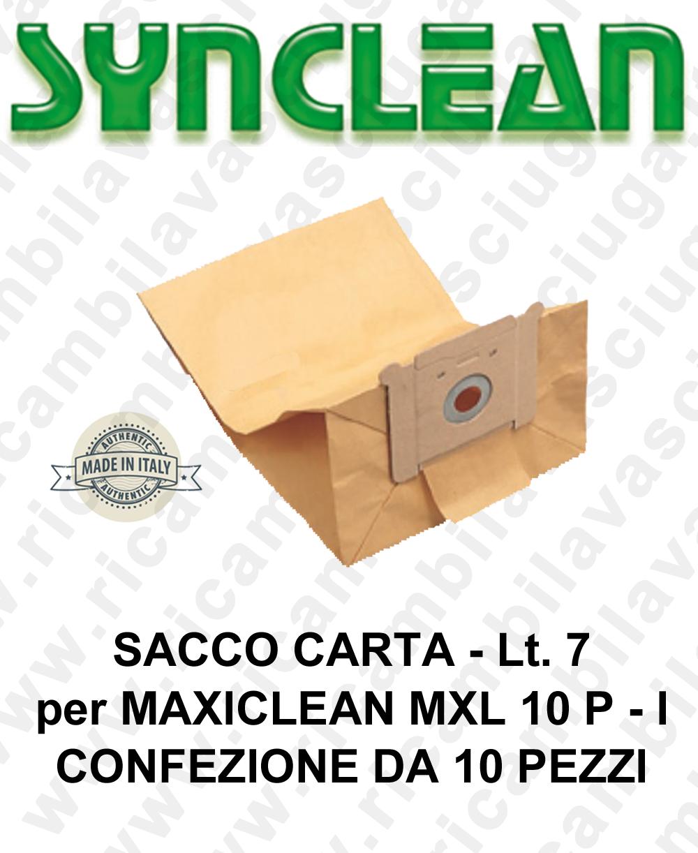 SACCO CARTA litri 7 para MAXICLEAN mod. MXL 10 P - I confezione da 10 piezas