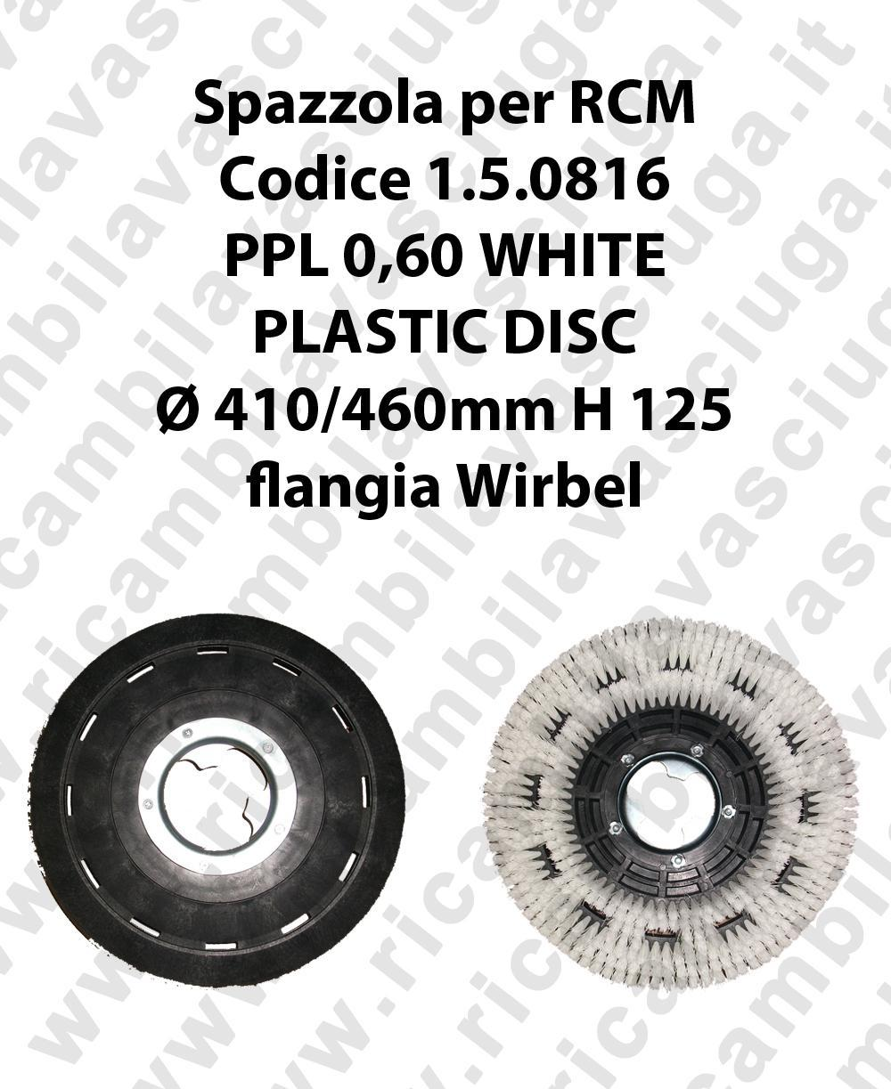 CEPILLO DE LAVADO PPL 0.6 WHITE para fregadora RCM codice 1.5.0816