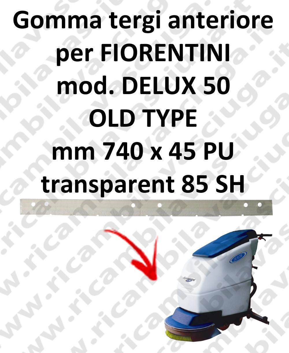 DELUX 50 old type goma de secado delantera para escobilla de goma FIORENTINI