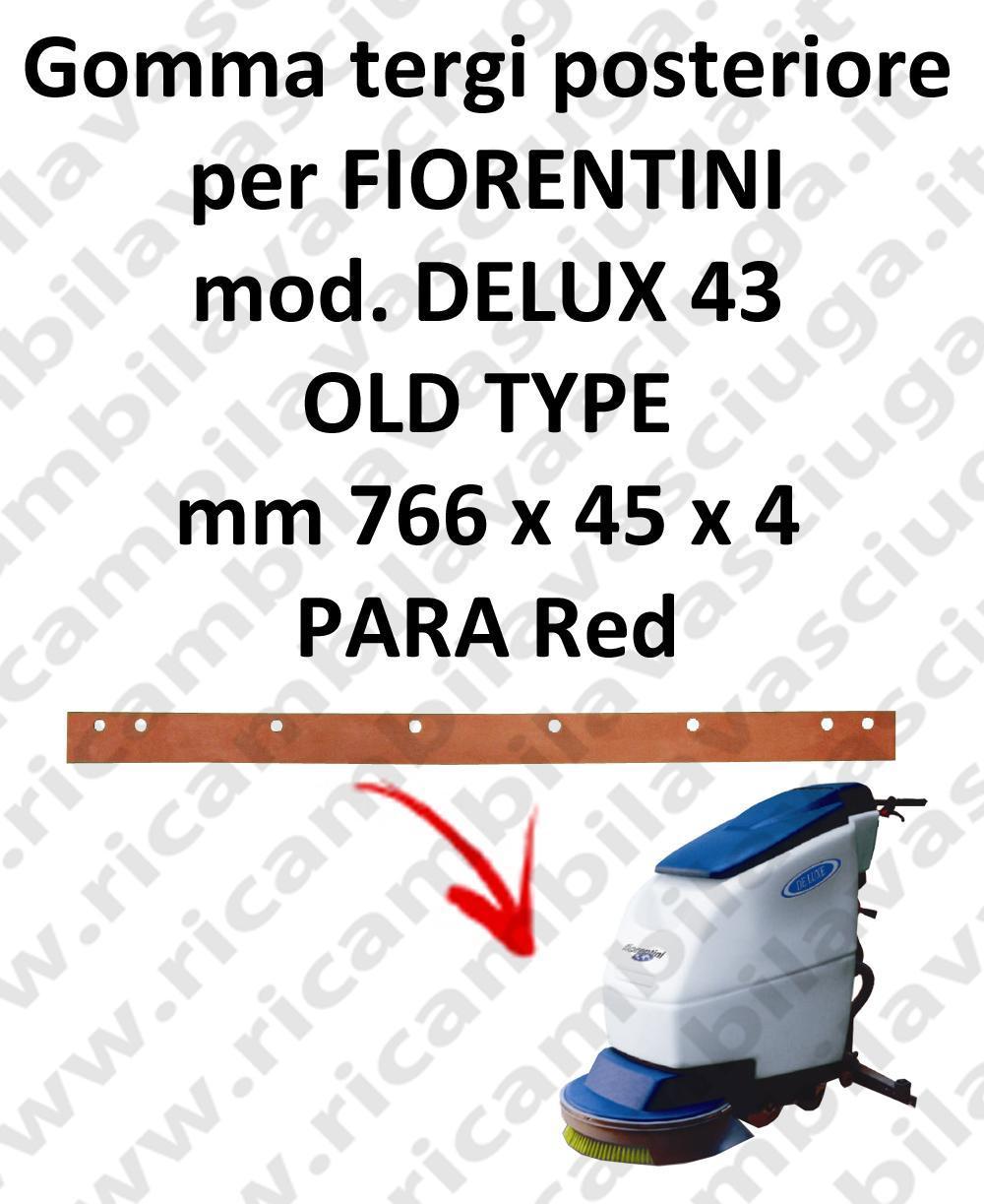 DELUX 43 old type goma de secado trasero para escobilla de goma FIORENTINI