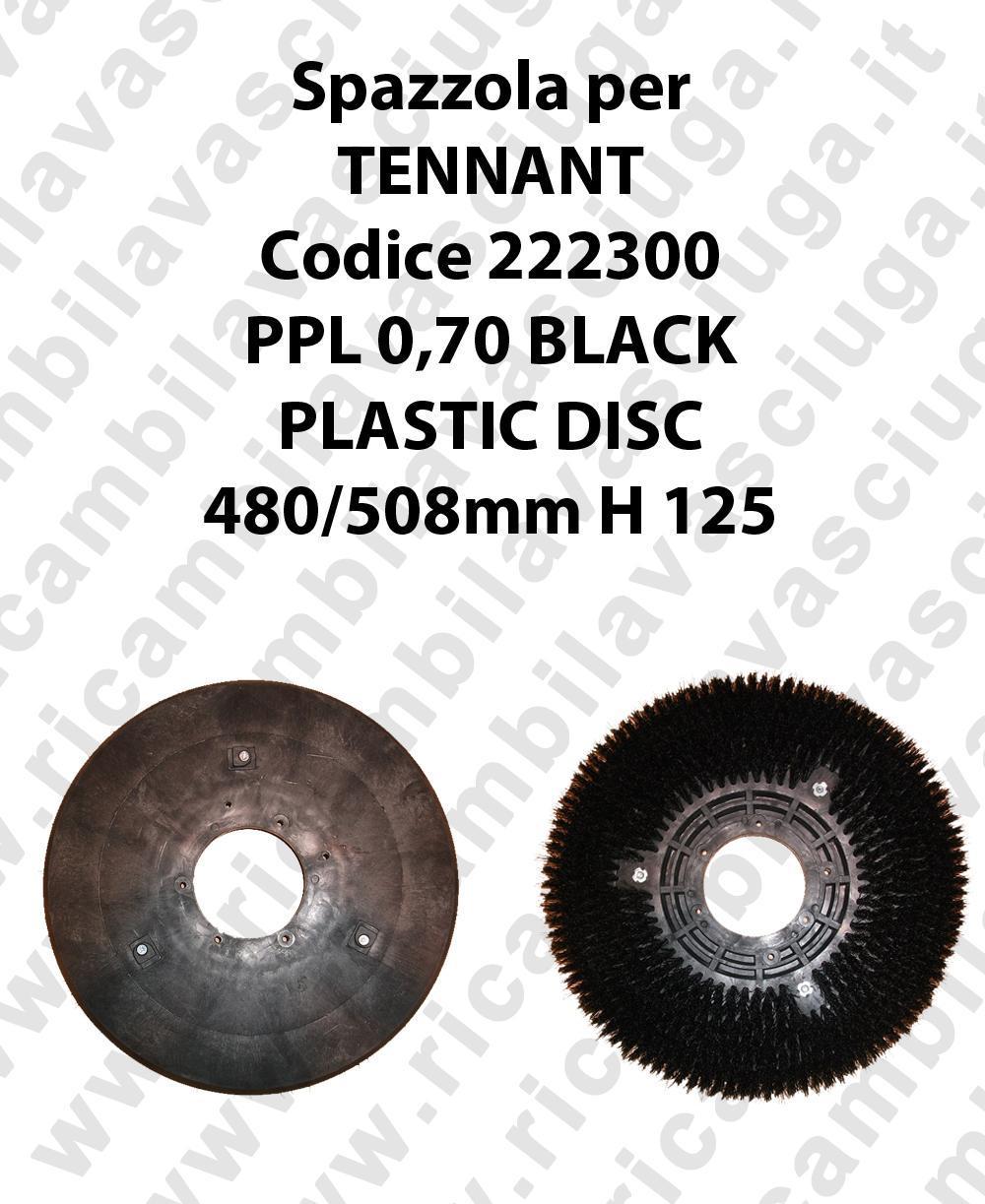 CEPILLO DE LAVADO PPL 0,70 BLACK para fregadora TENNANT codeice 222300
