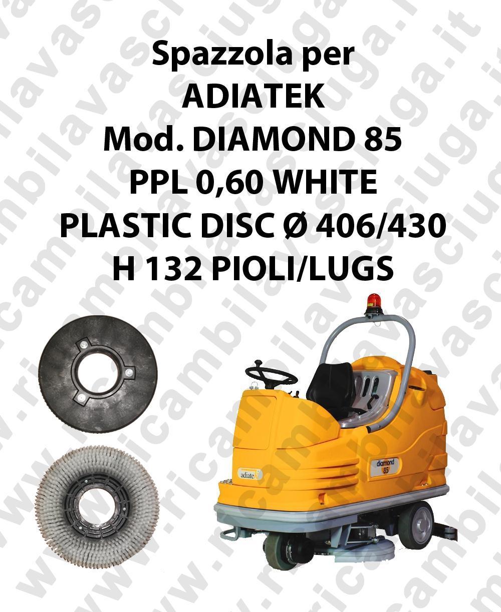 CEPILLO DE LAVADO PPL 0,60 WHITE para fregadora ADIATEK modelo DIAMOND 85