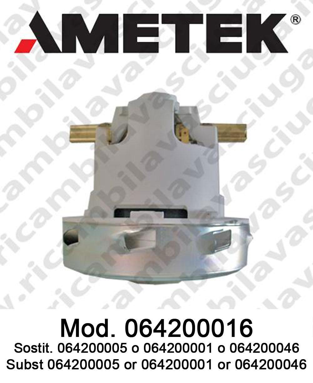 Motore de aspiración 064200016 AMETEK ITALIA para fregadora y aspiradora. Sostituisce 064200005 o 064200046 o 064200001