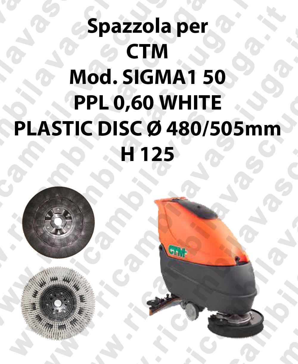 CEPILLO DE LAVADO PPL 0,60 WHITE para fregadora CTM modelo SIGMA1 50
