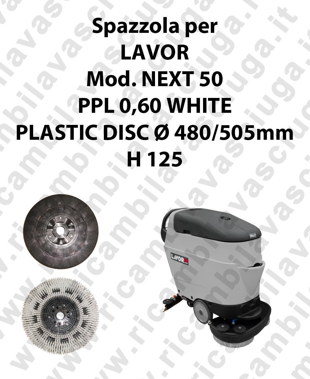 CEPILLO DE LAVADO PPL 0,60 WHITE para fregadora LAVOR modelo NEXT 50