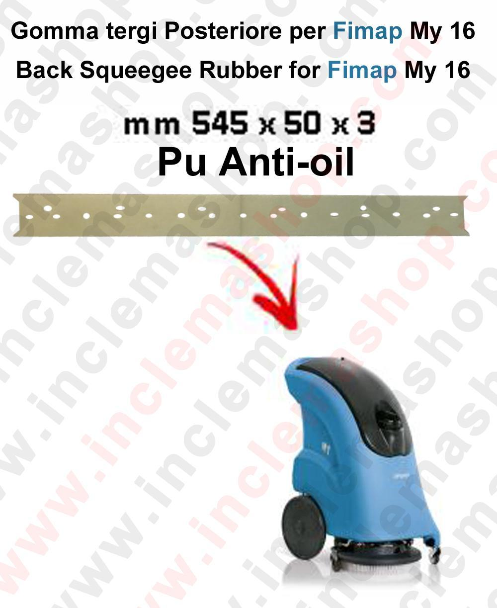 My 16 goma de secado trasero Poliuretano Anti olio para fregadora y fregadoras Fimap