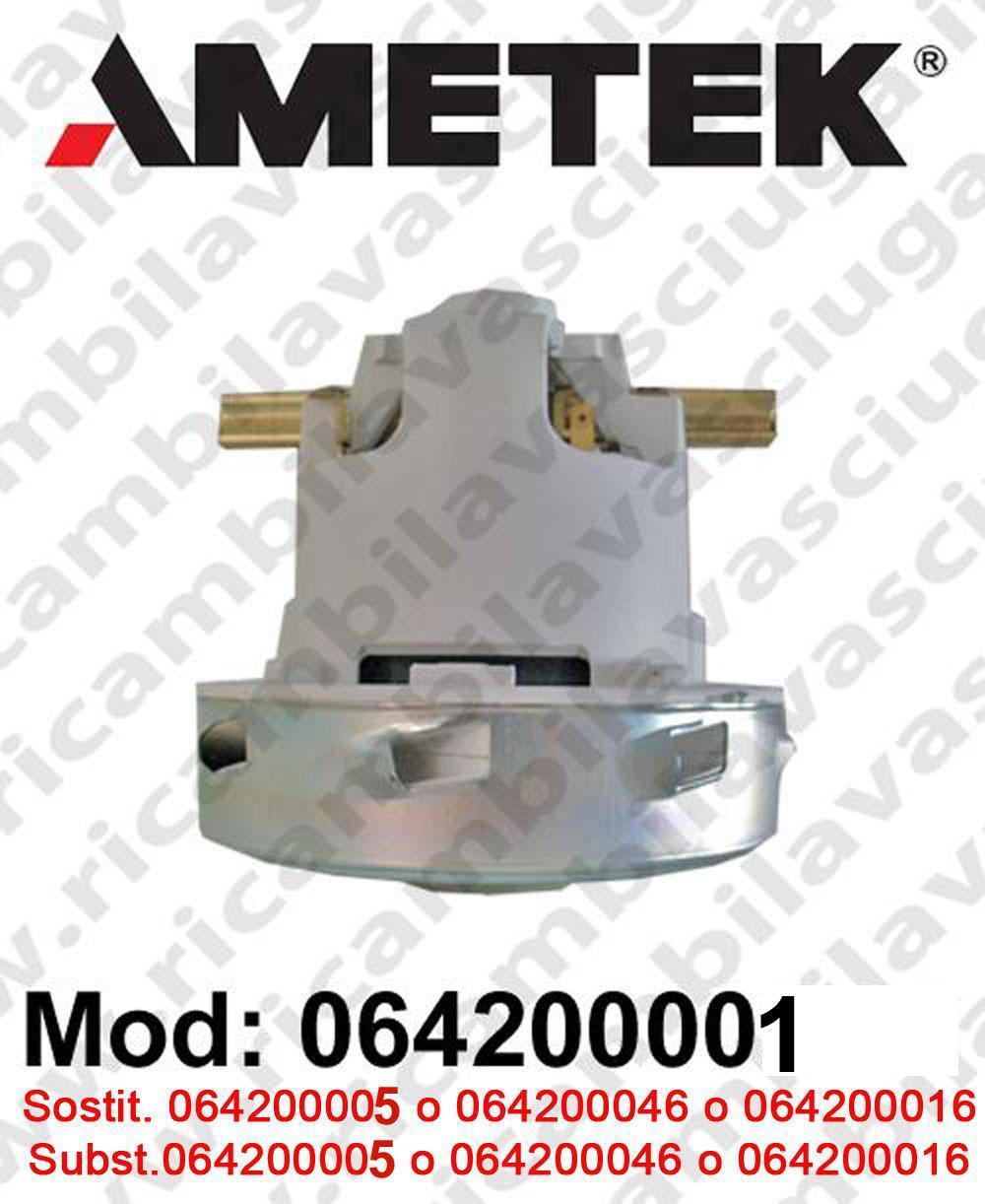 Motore de aspiración 064200001 AMETEK ITALIA para fregadora y aspiradora. Sostituisce 064200016 o 064200005 o 064200046