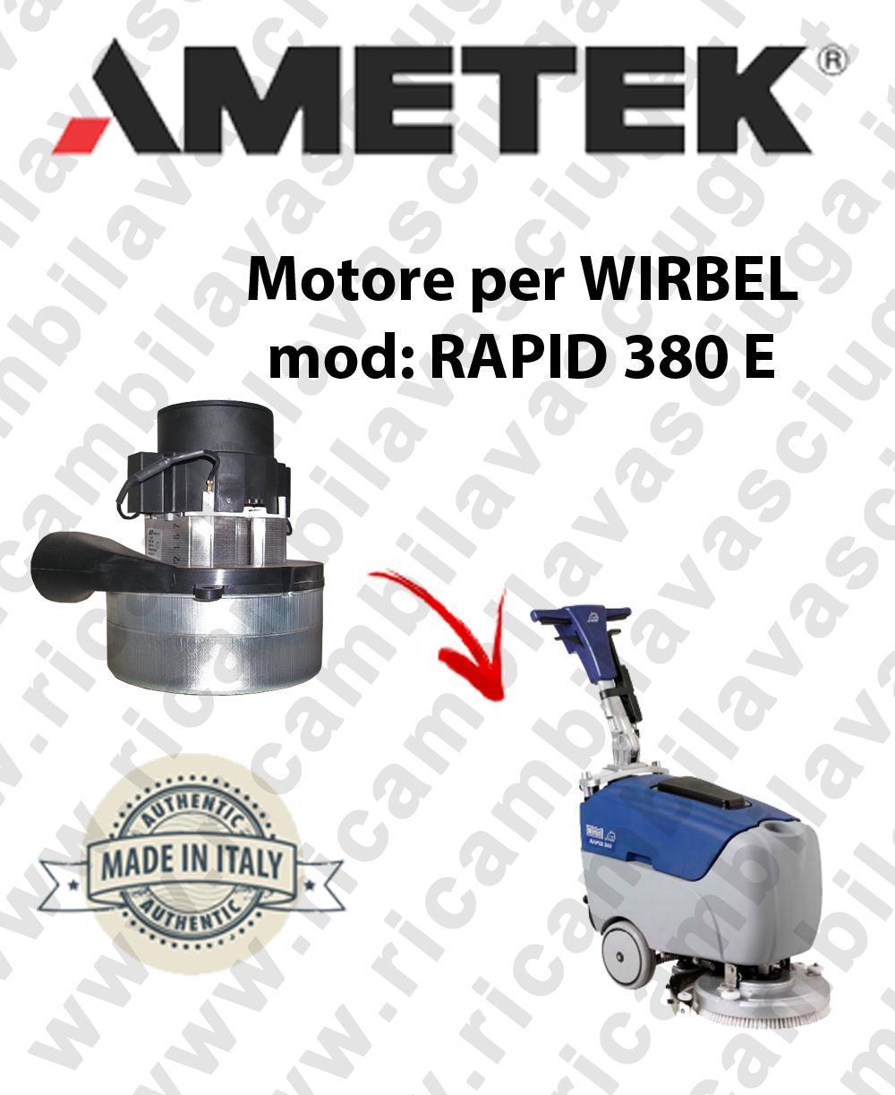 RAPID 380 y Motore de aspiración AMETEK para fregadora WIRBEL