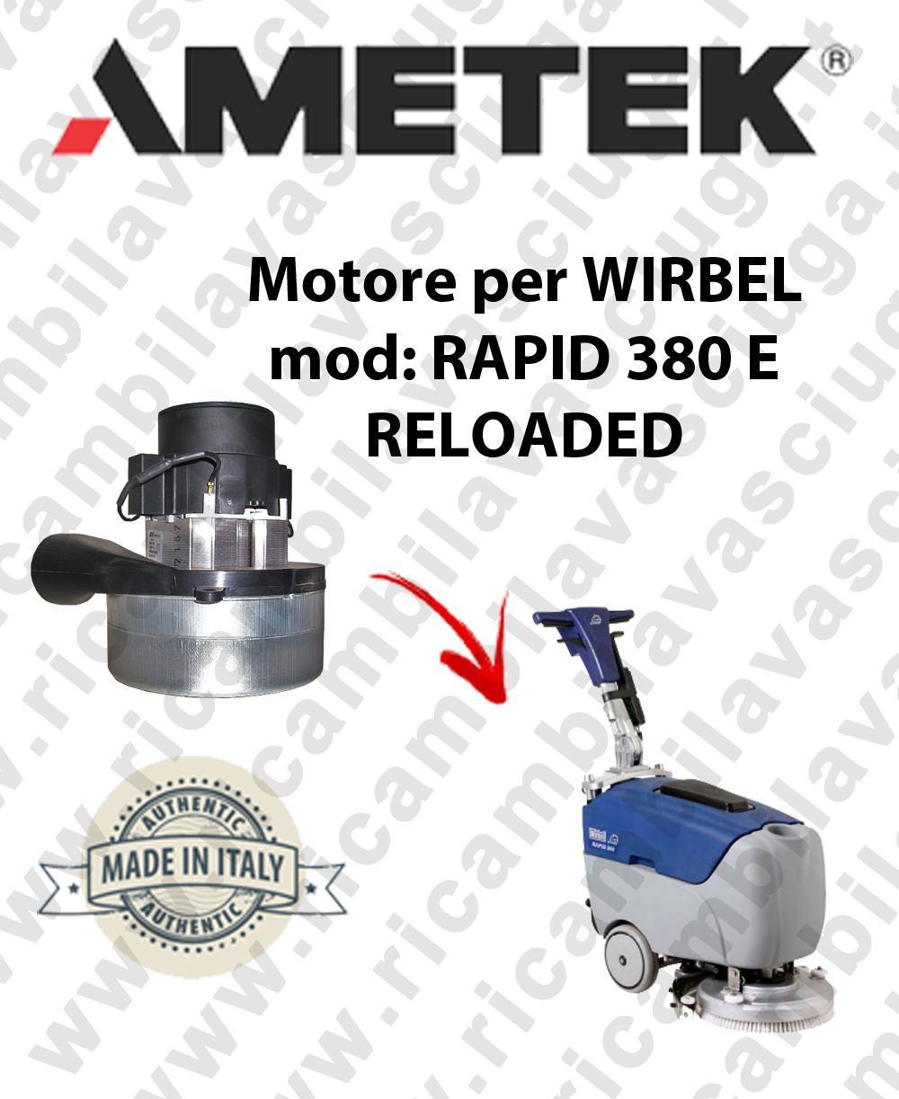 RAPID 380 y RELOADED Motore de aspiración AMETEK para fregadora WIRBEL