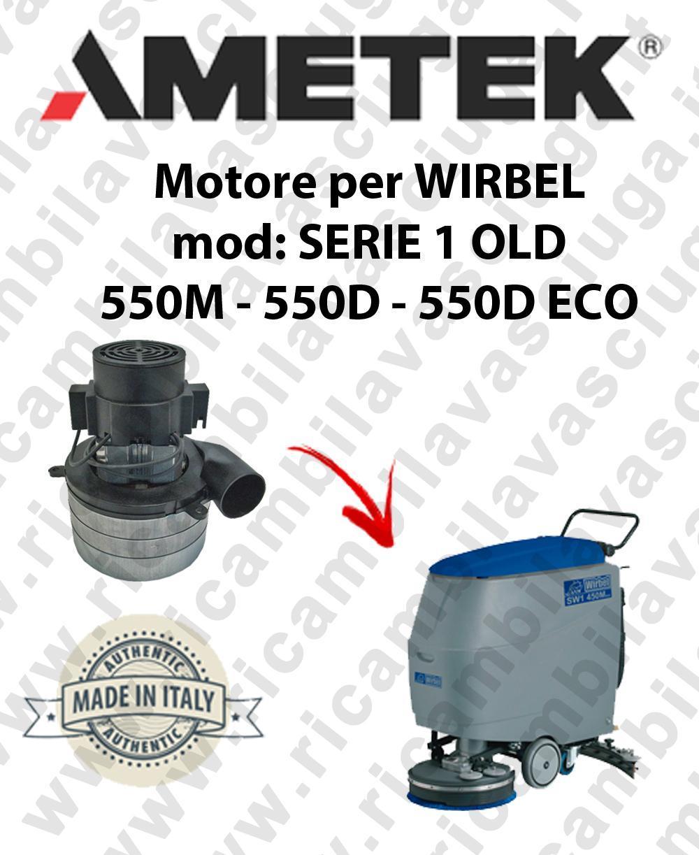SERIE 1 OLD 550M 550D 550D ECO Motore de aspiración AMETEK para fregadora WIRBEL