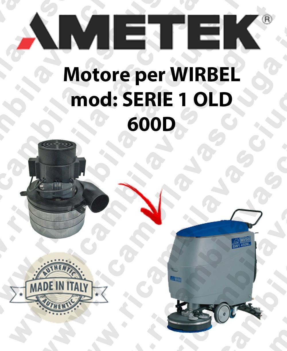 SERIE 1 OLD 600D Motore de aspiración AMETEK para fregadora WIRBEL