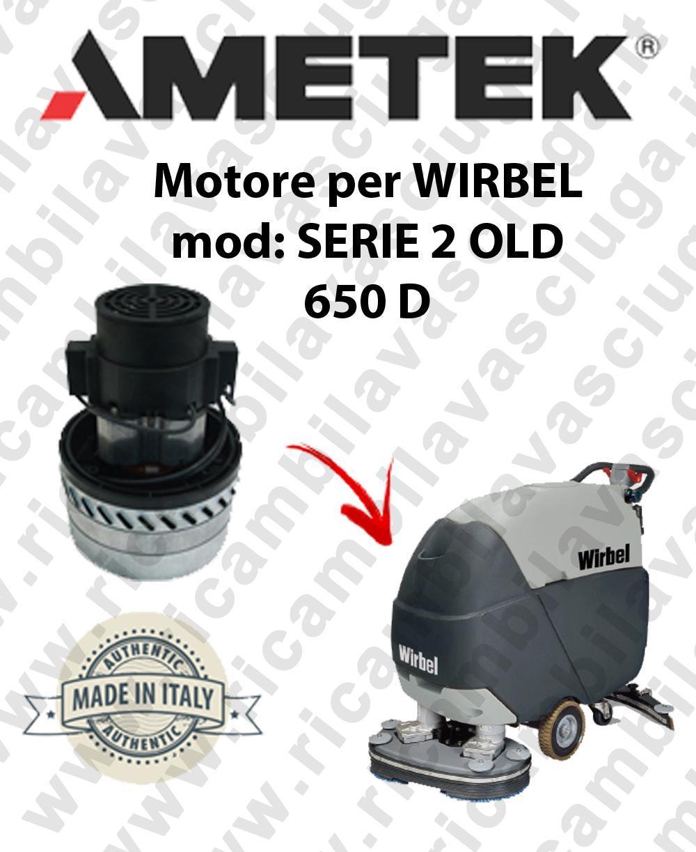 SERIE 2 OLD 650 D Motore de aspiración AMETEK para fregadora WIRBEL