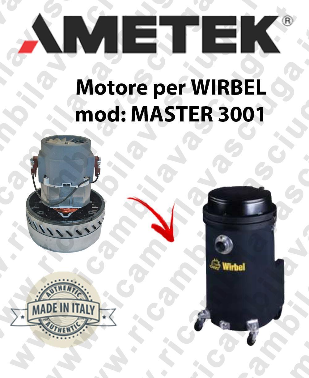 MASTER 3001 Motore de aspiración AMETEK  para aspiradora WIRBEL