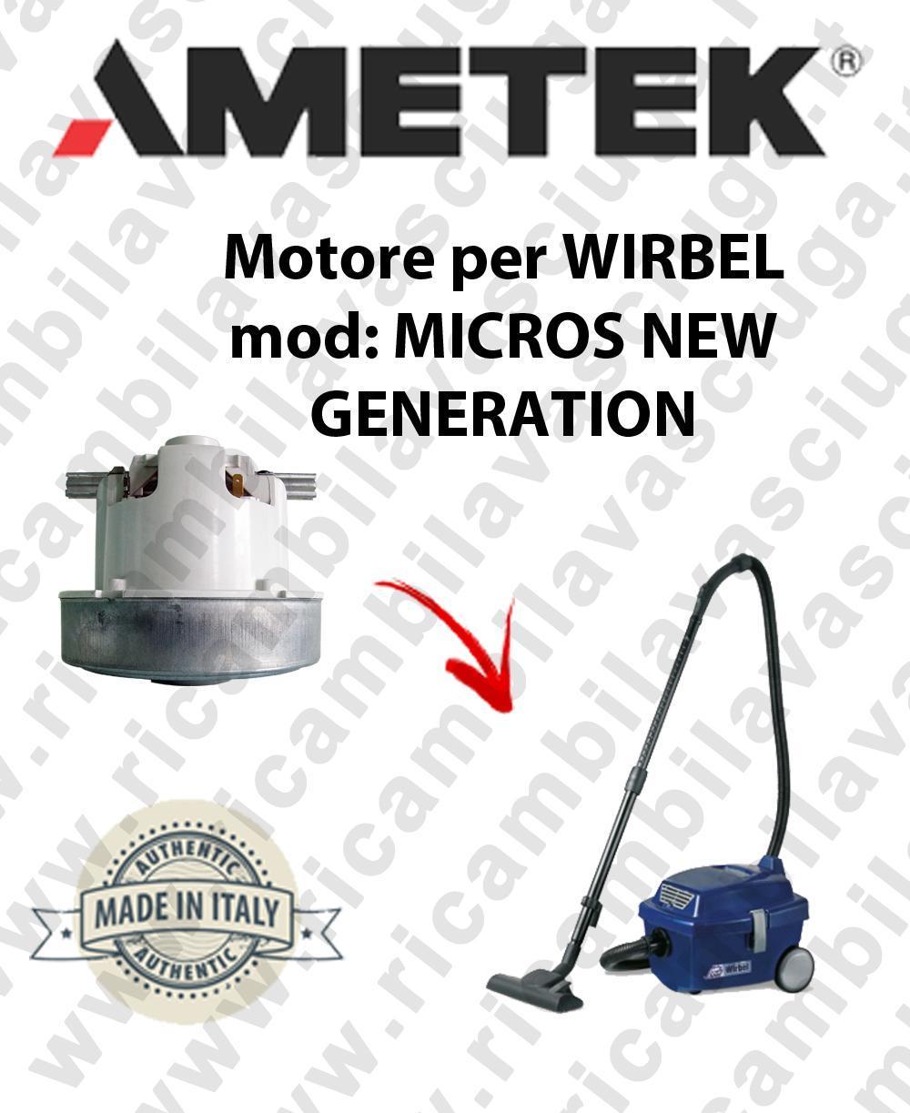 MIKROS NEW GENERATION Motore de aspiración AMETEK  para aspiradora WIRBEL