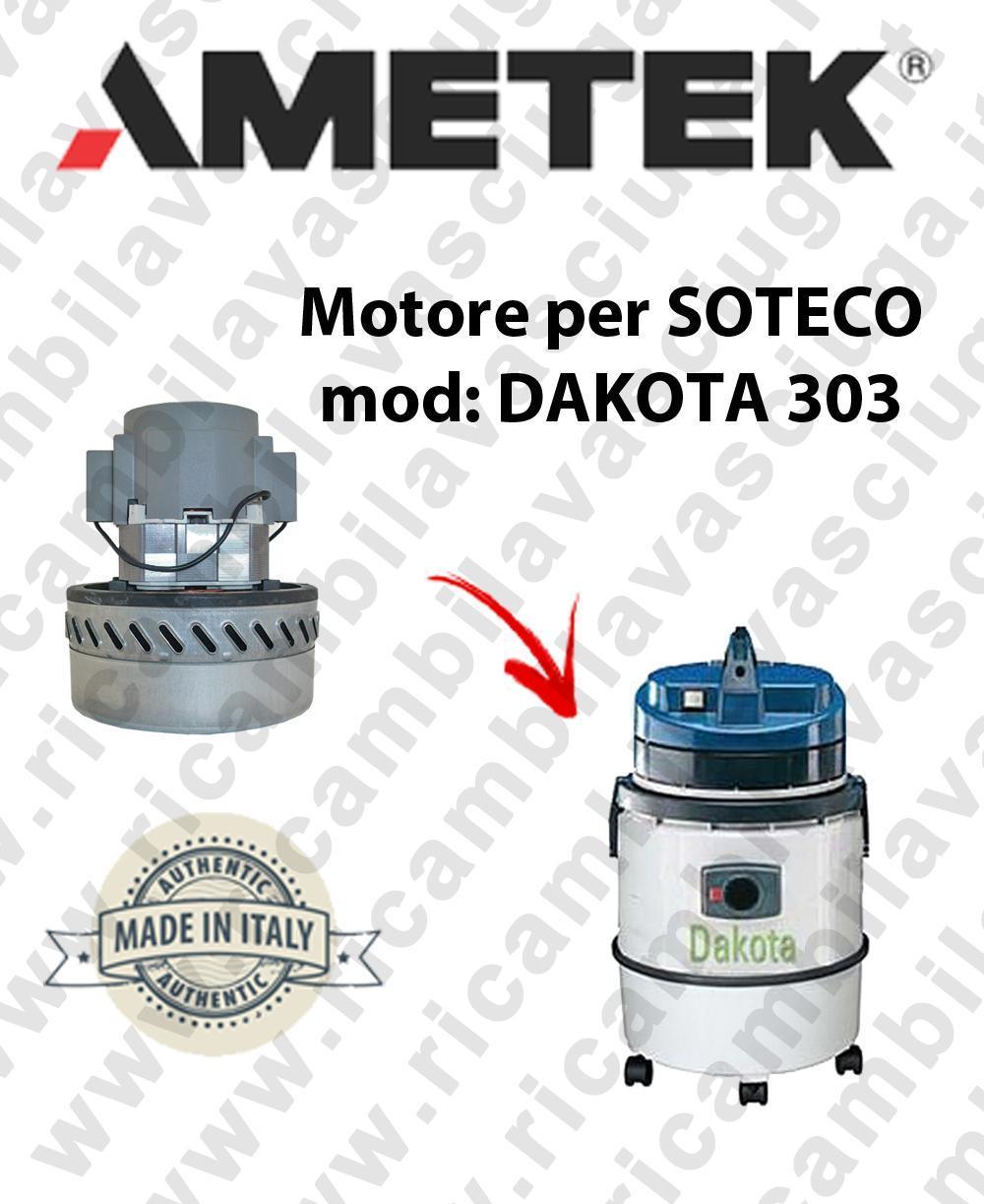 DAKOTA 303 Motore de aspiración AMETEK para aspiradora SOTECO