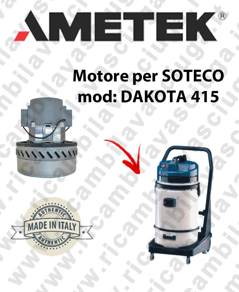 DAKOTA 415 Motore de aspiración AMETEK para aspiradora SOTECO