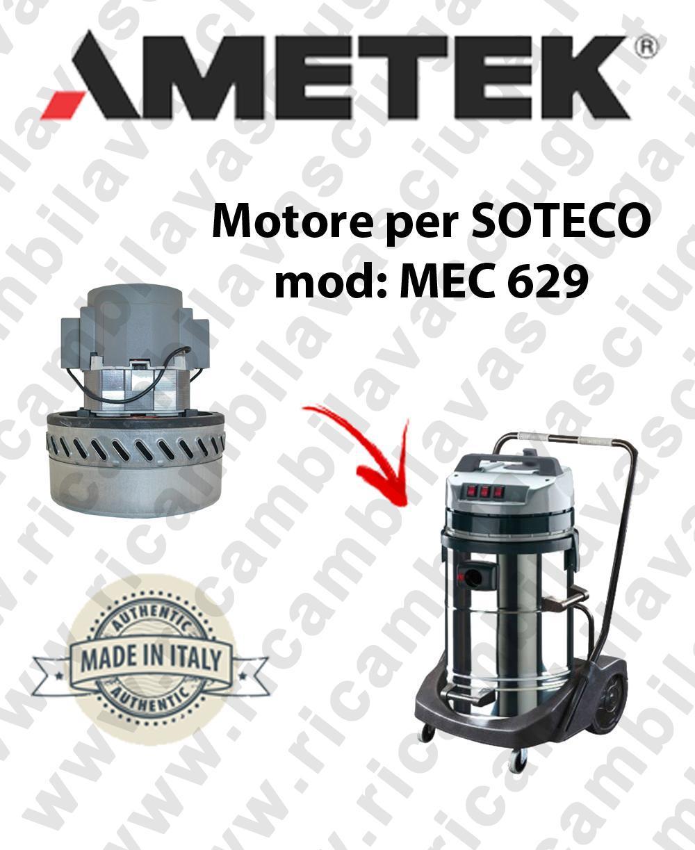 MEC 629 Motore de aspiración AMETEK para aspiradora SOTECO