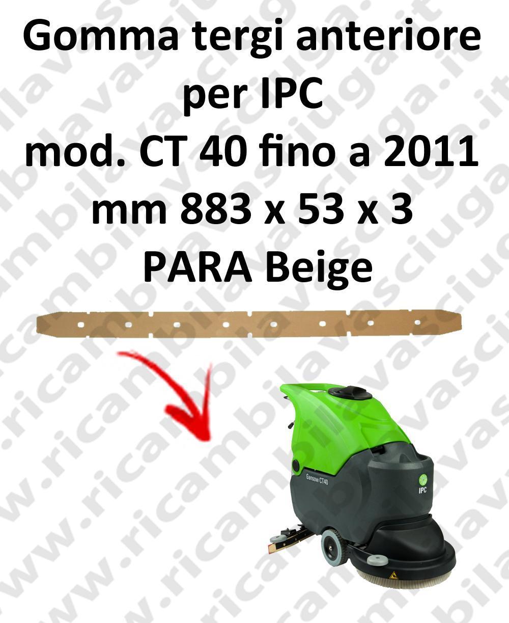 CT 40 fino a 2011 goma de secado delantera para fregadora y fregadoras IPC