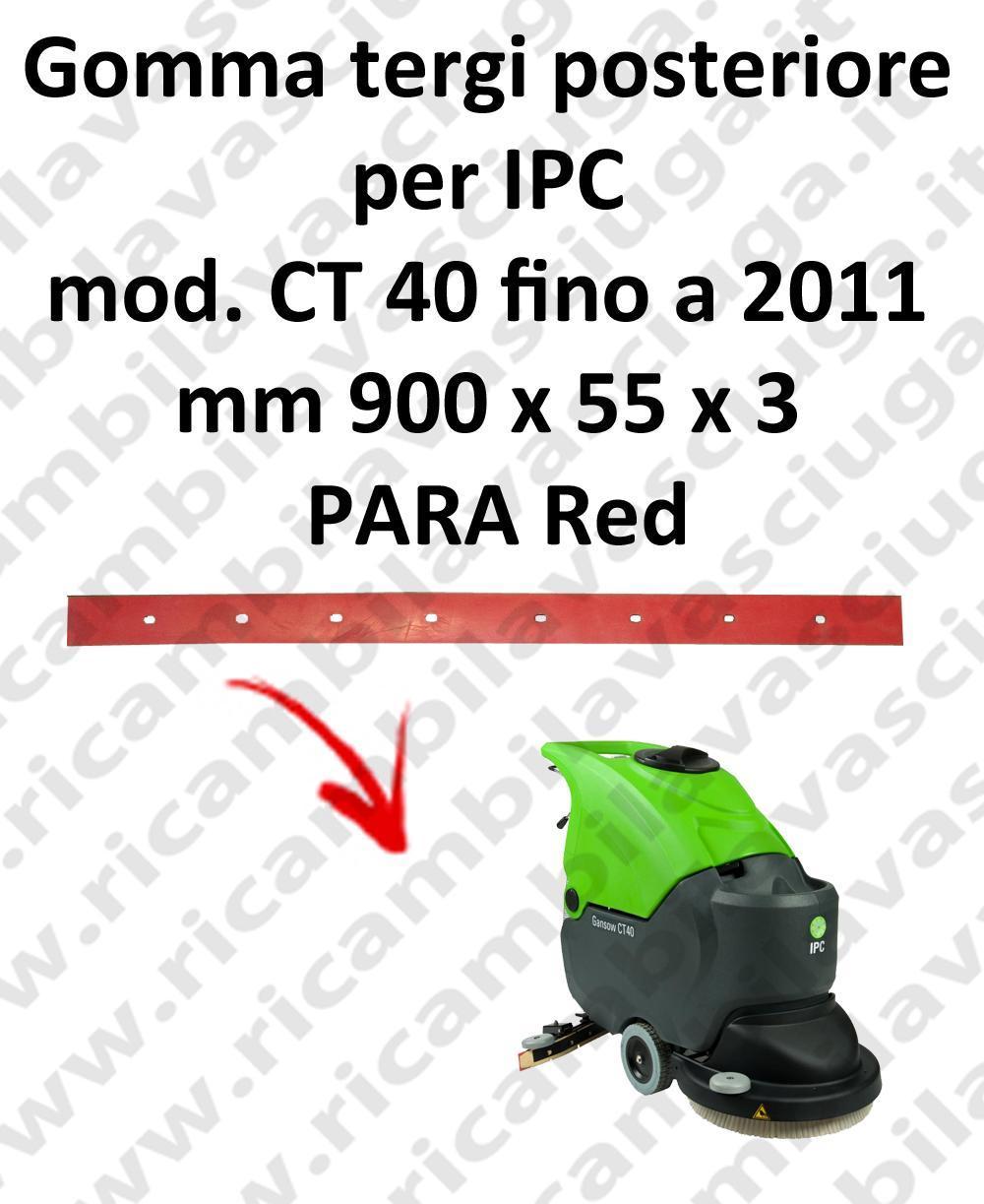CT 40 fino a 2011 goma de secado trasero para fregadora y fregadoras IPC