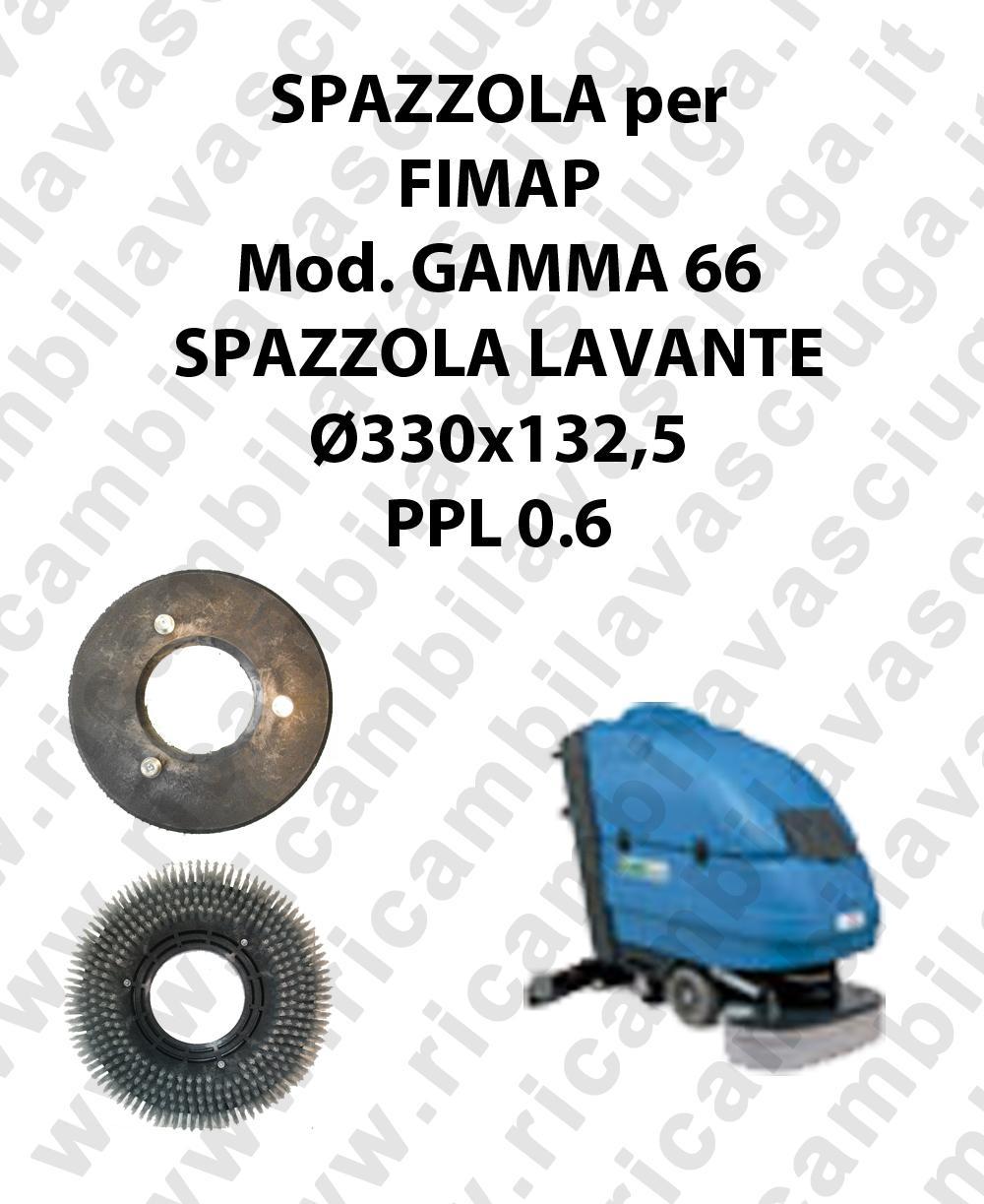 CEPILLO DE LAVADO  para fregadora FIMAP modelo GAMMA 66 ø 330 x 132.5 PPL 0.6