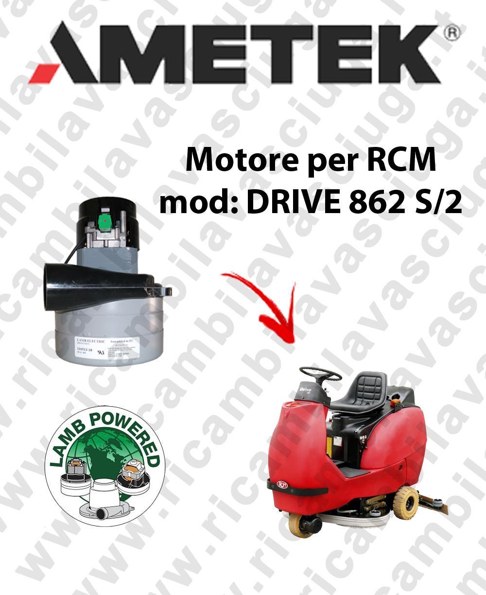 DRIVE 862 S/2 motor de aspiración LAMB AMETEK fregadora RCM