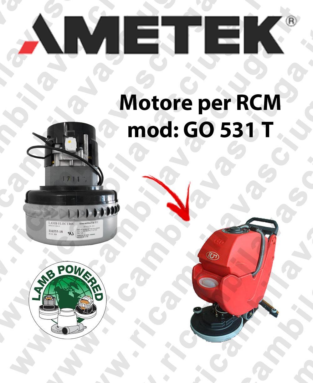 GO 531 T motor de aspiración LAMB AMETEK fregadora RCM
