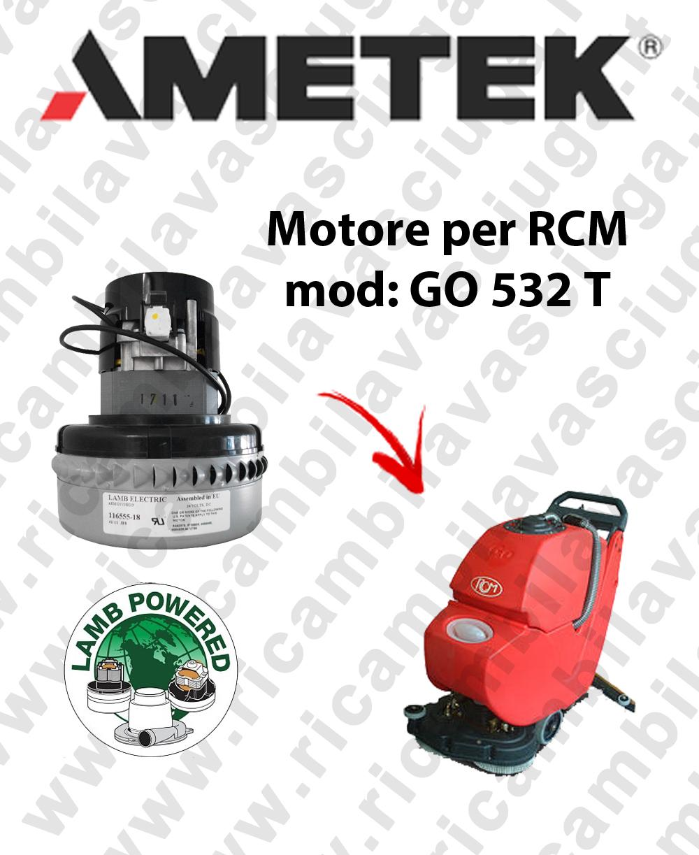 GO 532 T motor de aspiración LAMB AMETEK fregadora RCM