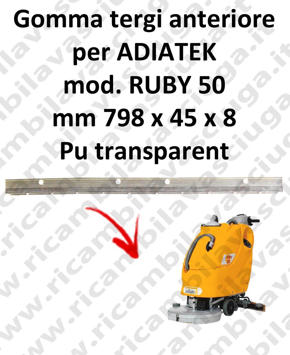 RUBY 50 goma de secado fregadora delantera para ADIATEK