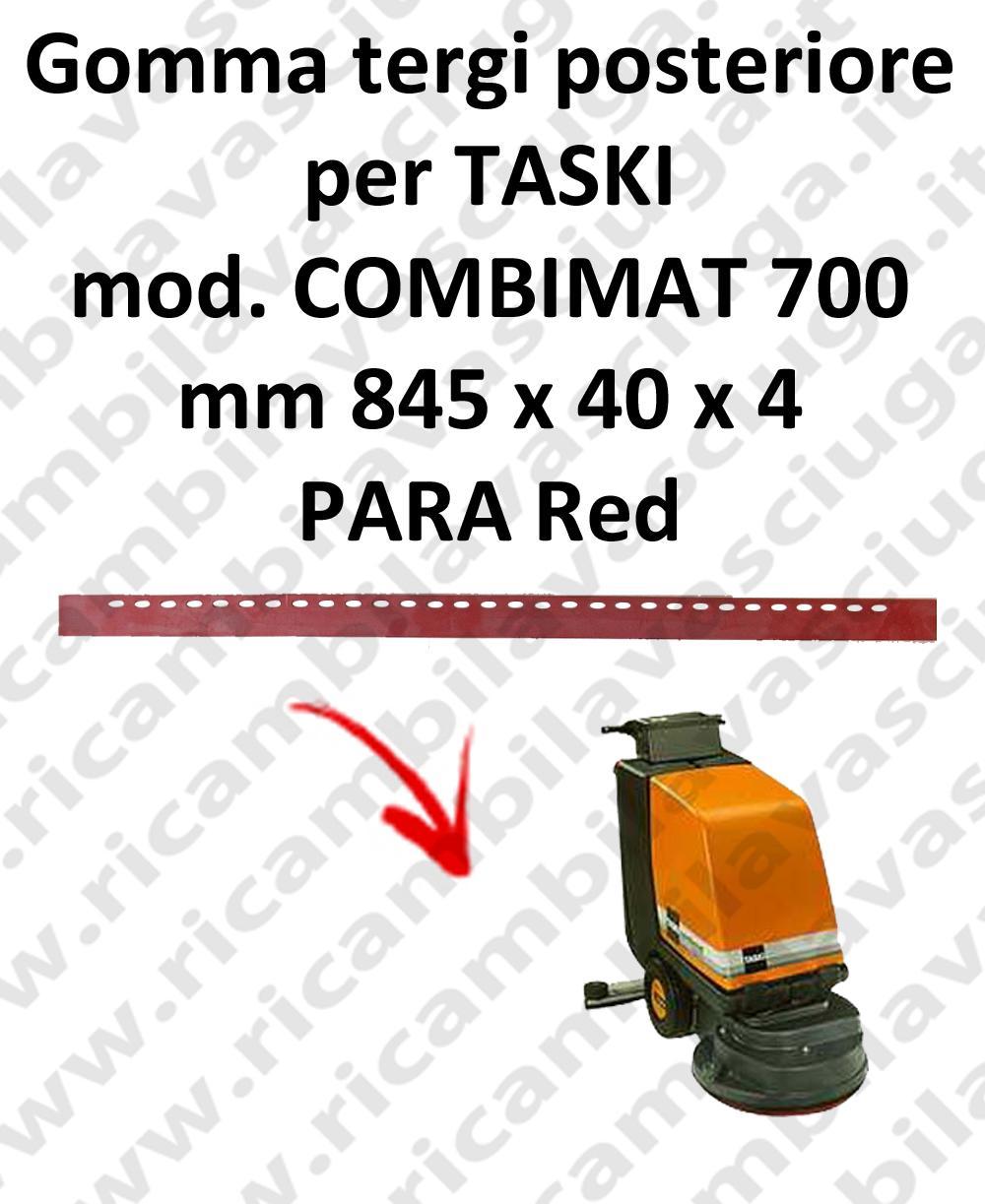 COMBIMAT 700 goma de secado fregadora trasero para TASKI