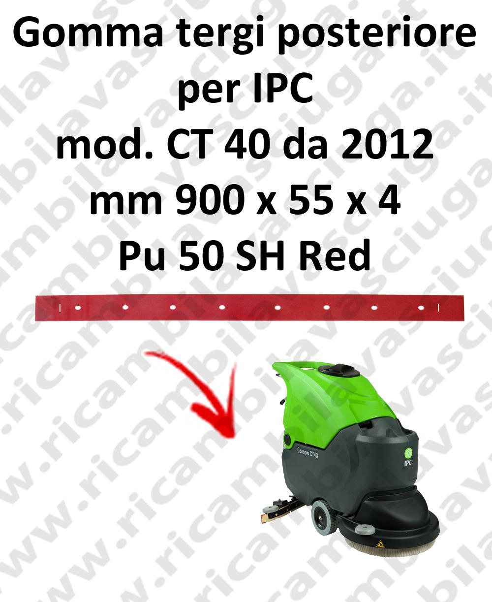 CT 40 da 2012 goma de secado fregadora trasero para IPC