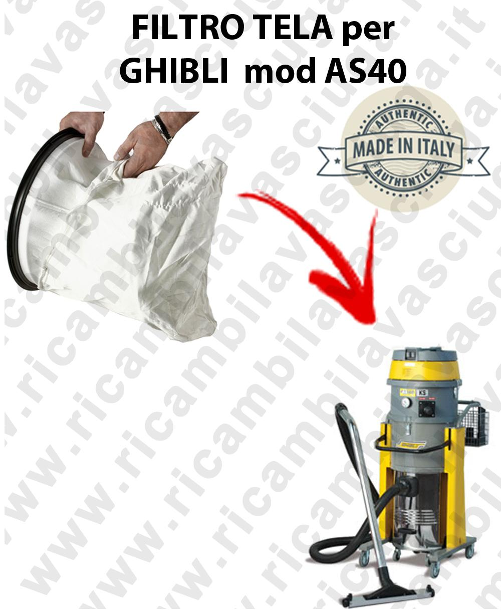 SACCO Filtro de Nylon cod: 3001220 para aspiradora GHIBLI Model AS40
