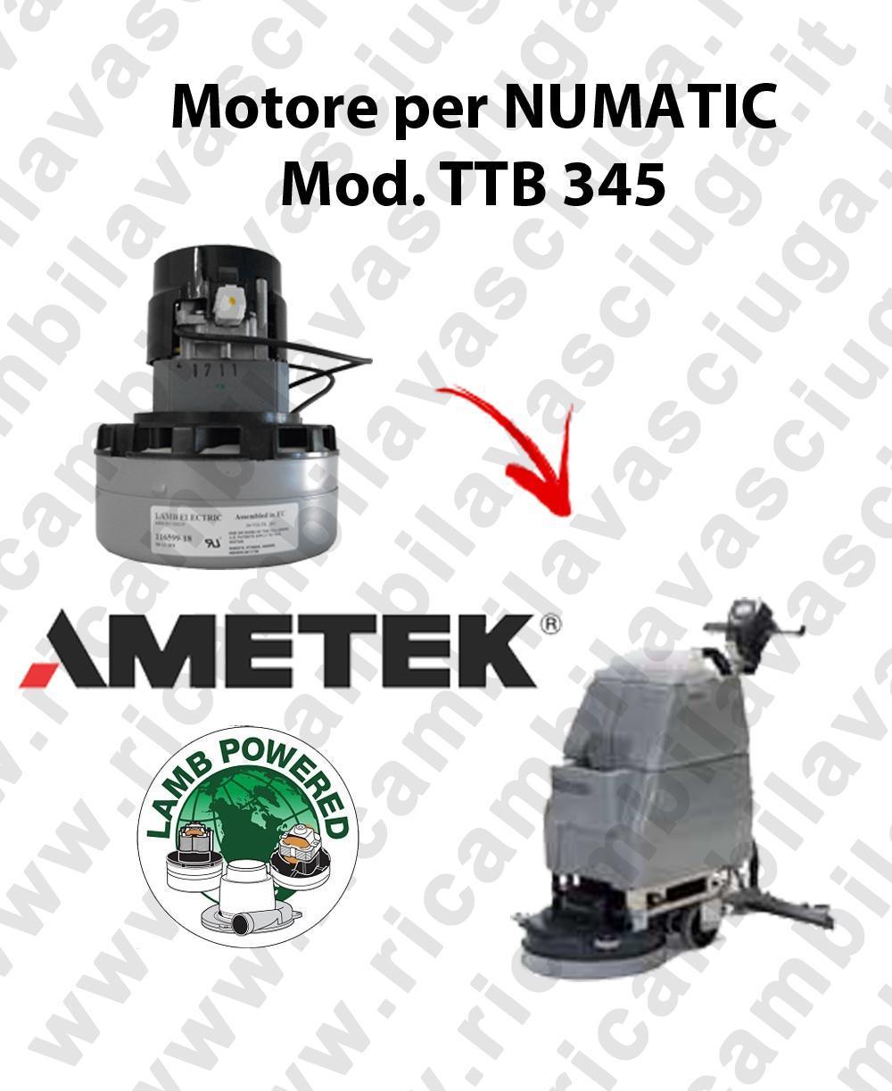 TTB 345 motor de aspiración AMETEK fregadora NUMATIC