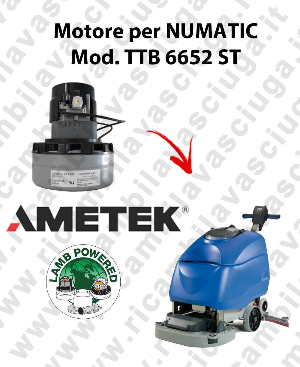 TTB 6652 ST motor de aspiración AMETEK fregadora NUMATIC