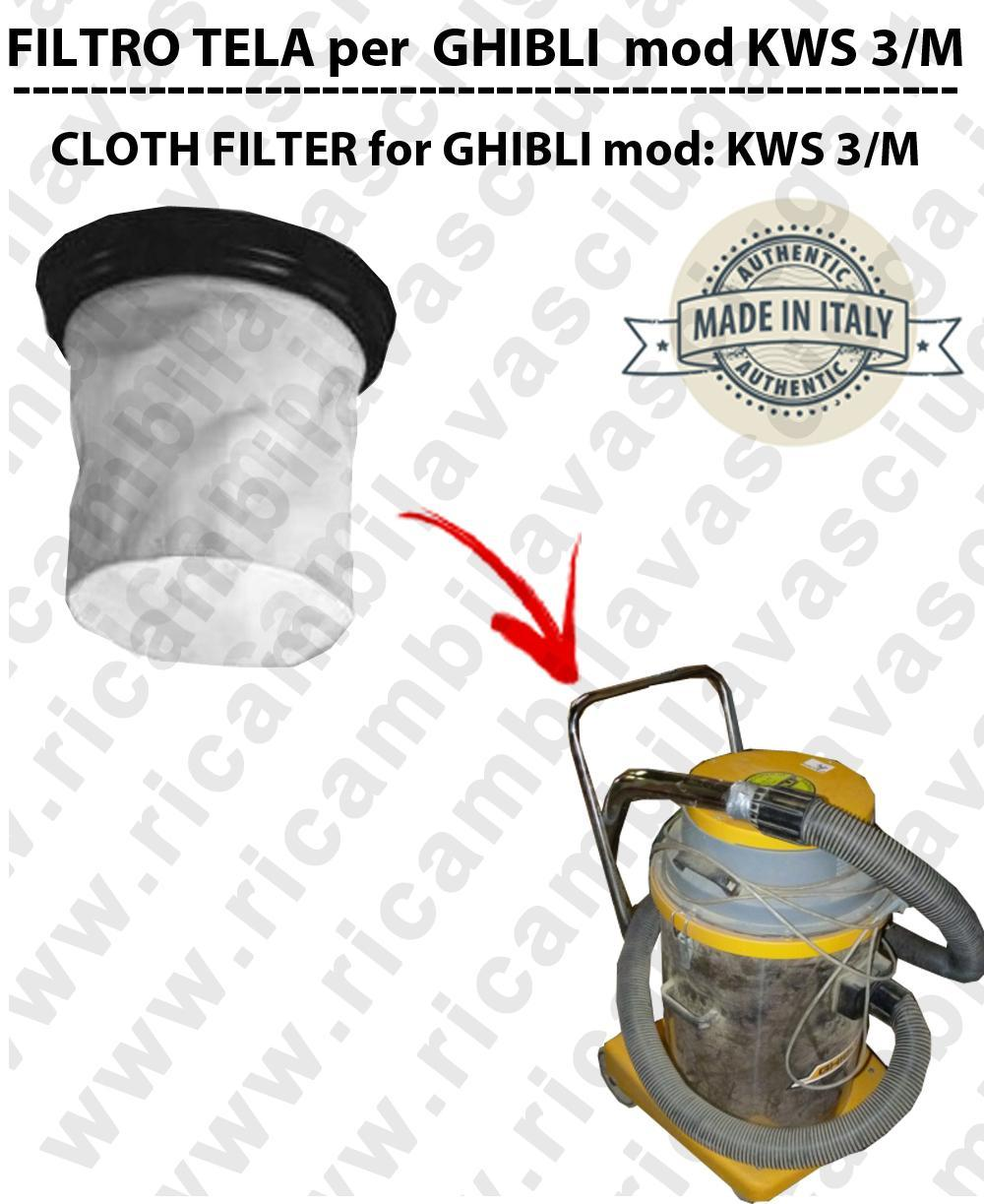 Filtro de tela para aspiradora GHIBLI Model KWS 3/M