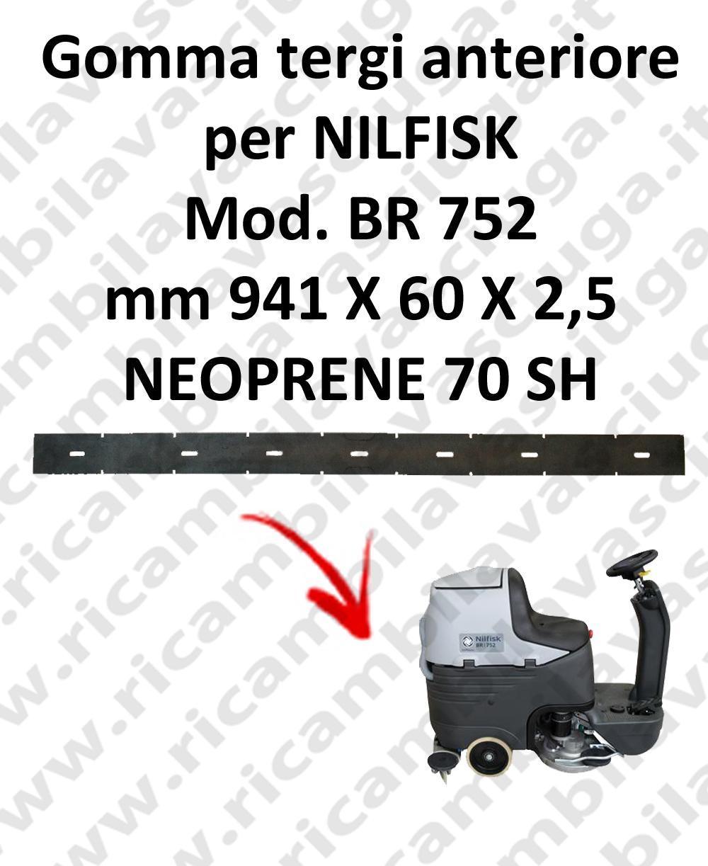 goma de secado delantera para fregadora NILFISK Model BR 752