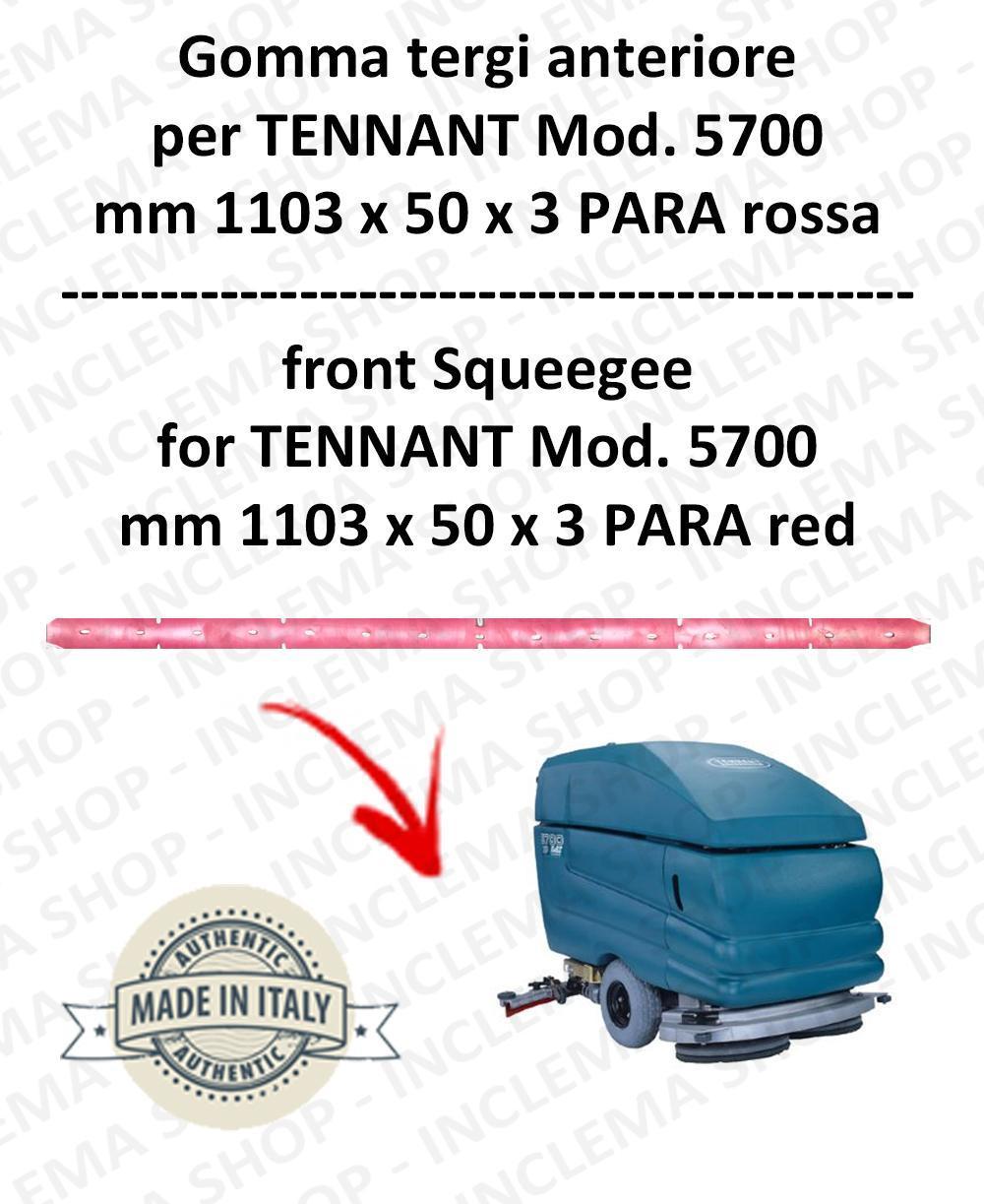 5700 goma de secado delantera PARA rojo para fregadora TENNANT - squeegee 800 mm