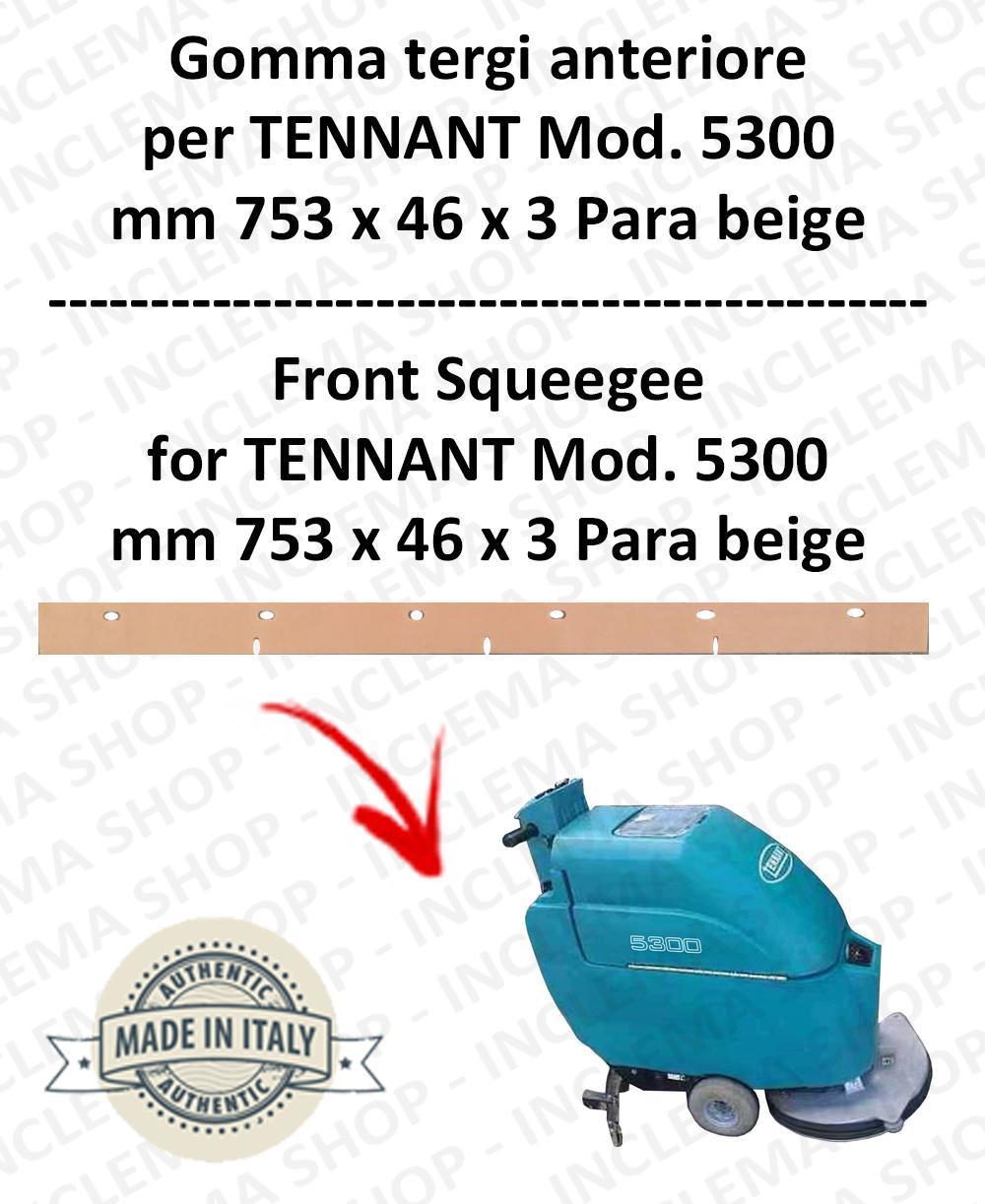 5300 goma de secado delantera PARA beige para fregadora TENNANT