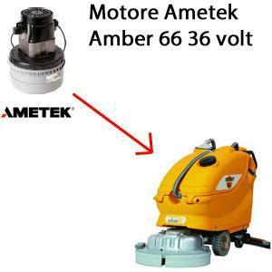AMBER 66 36 volt Saugmotor AMETEK für scheuersaugmaschinen Adiatek