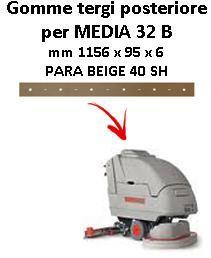 MEDIA 32 B Hinten Sauglippen für scheuersaugmaschinen COMAC