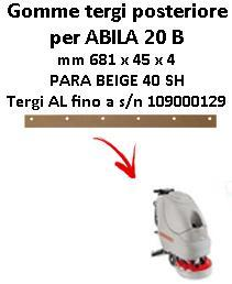 ABILA 20 B Hinten sauglippen für scheuersaugmaschinen COMAC